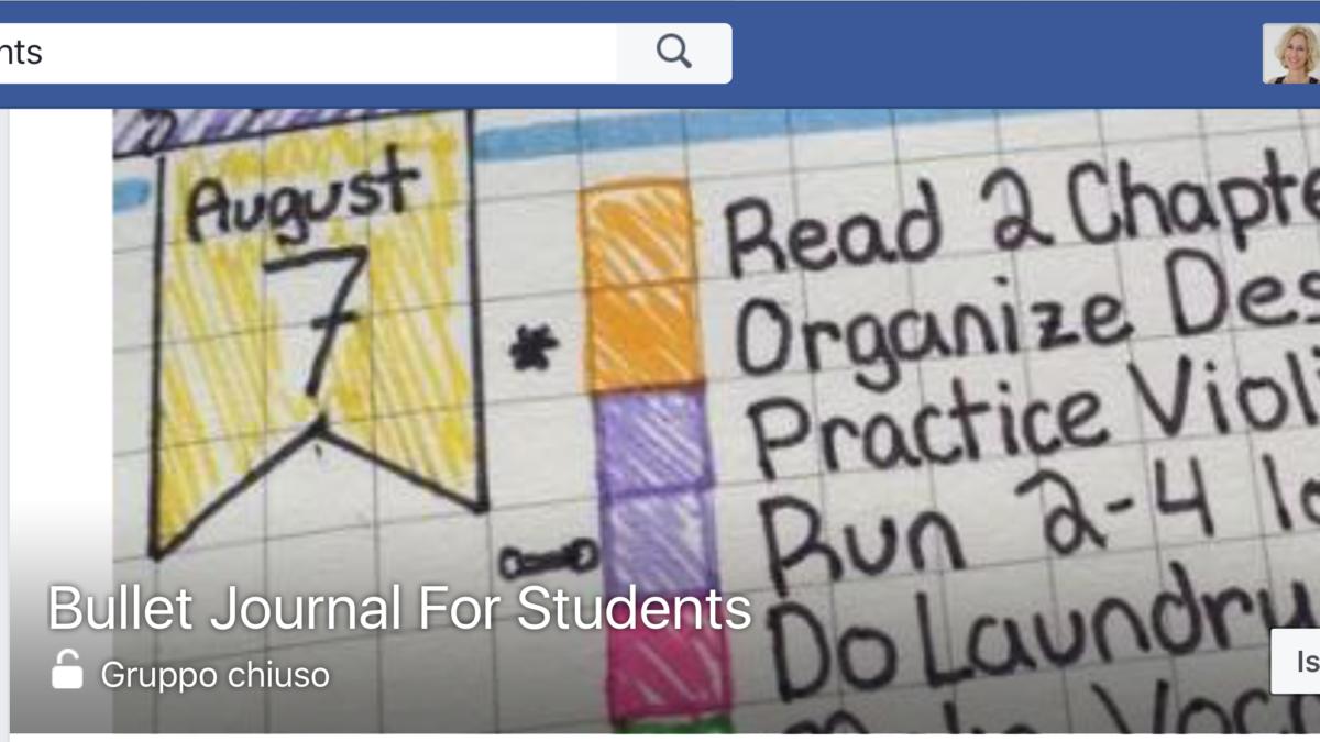 Gruppi su Facebook riguardo il bullet journal per esigenze specifiche