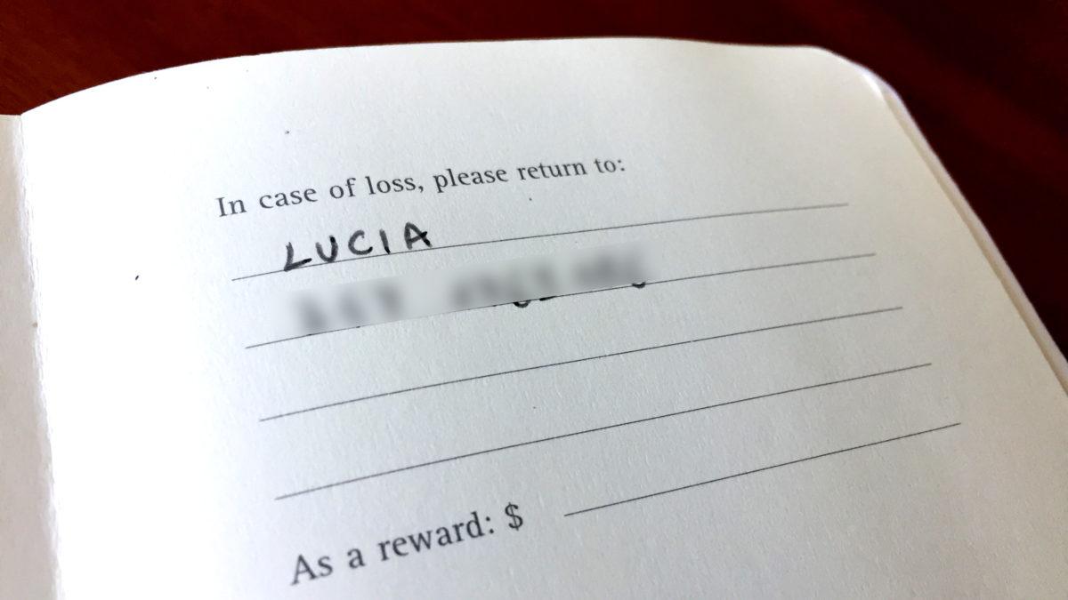 E se perdo il mio bullet journal?